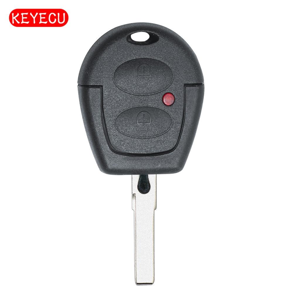 Keyecu Remote Car Key Fob 2 Button 434MHz ID48 For VW Volkswagen Gol