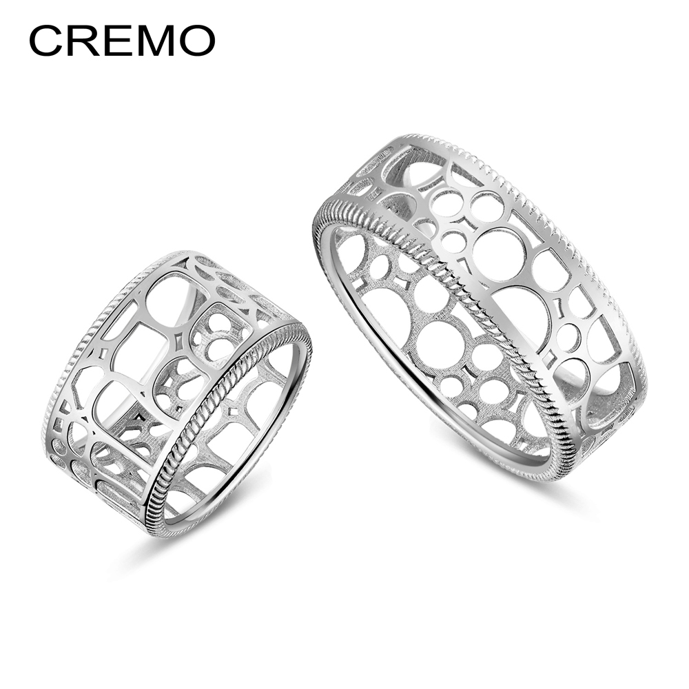 Cremo Fashion Couple Rings Leather Interchangeable Design