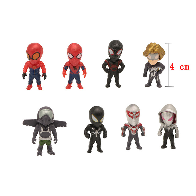 The Avengers Marvel Spider Man Homecoming Mini Action figures 8 Pcs/Lot