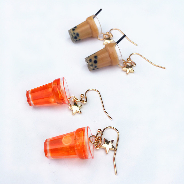 Lemon Ice Pearl Tea Earrings