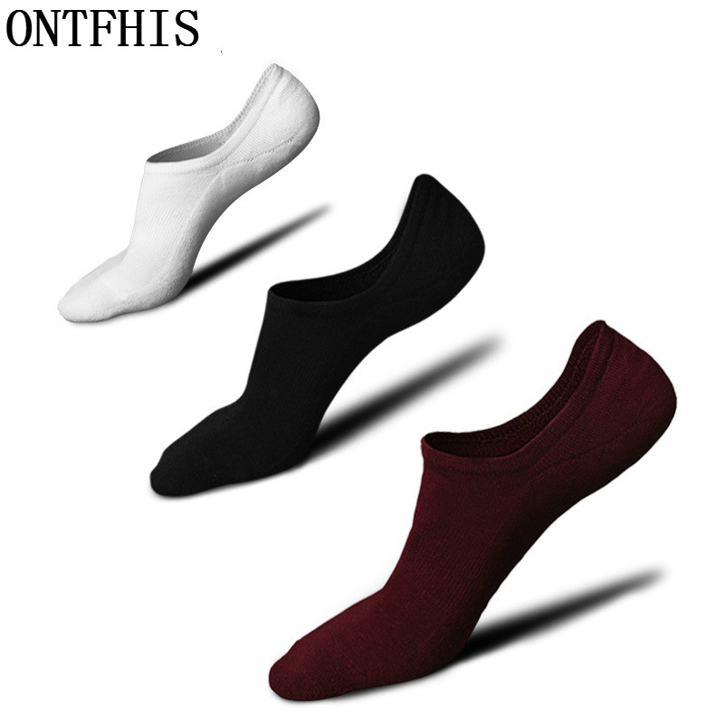 Efinny Male Boat Socks Mens Ultra-comfort Cotton Ankle Socks Casual Breathable Thick Solid Color Dark Flower Sports Sock Beautiful And Charming Underwear & Sleepwears