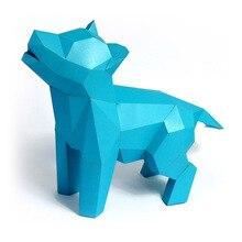 Book-Shelf Paper-Craft-Model Animal DIY 3D Cat Dog Party-Gift Hand-Made Living-Room Home-Decor