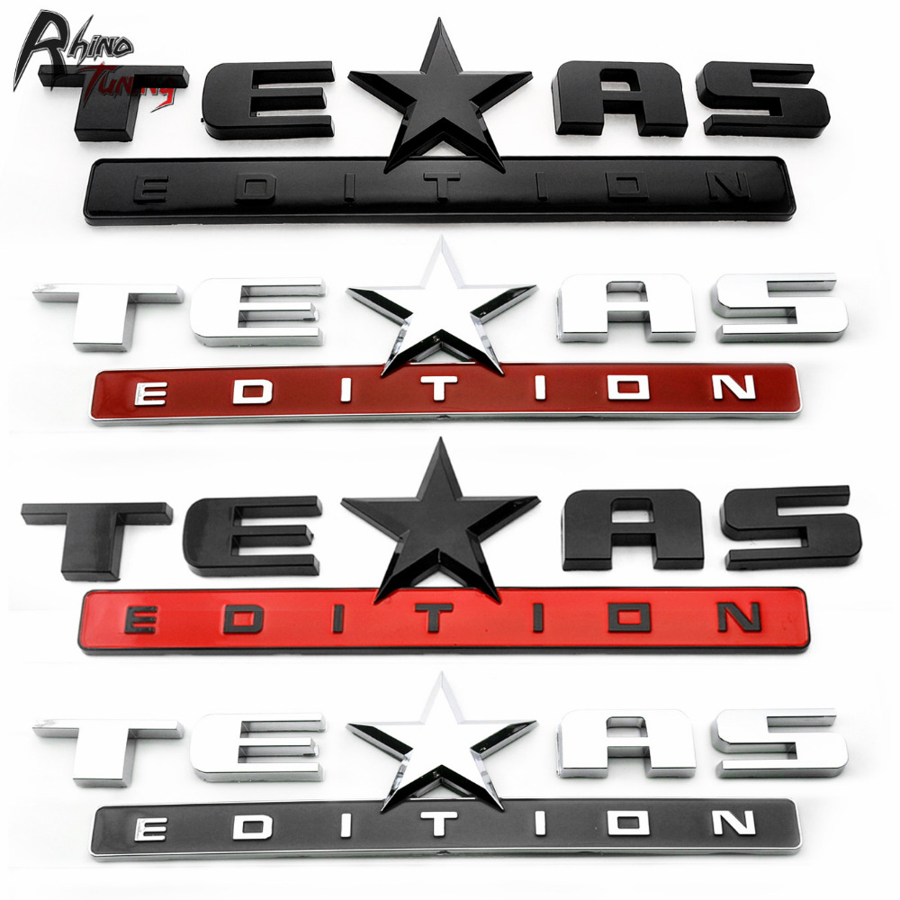 Rhino Tuning TEXAS EDITION Rear Boot Trunk Auto Side Wing Sticker Car Emblem for Ranger Sierra Colorado Silverado Tahoe 319 debra clopton texas ranger dad