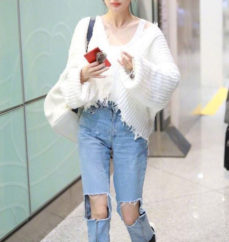 Femme Sexy 2017 Whitney Pull Printemps Rapiéçage Wang Date Gland Streetwear Mode Jumper Casual Femmes V Col RERqA6aSW8