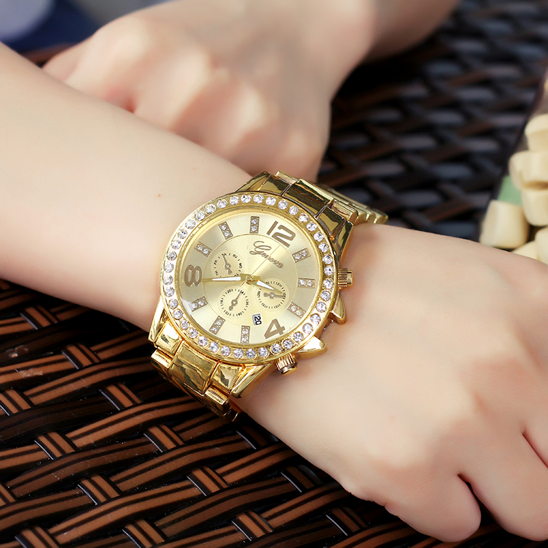 Brand Women steel brand dress watches ladies Luxury Casual quartz watch relogio feminino female rhinestone gold clock hours цены