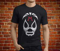 Tailored Shirts O Neck Comfort Soft Short Sleeve Mens Wrestler Mil Mascaras Mask Shirt