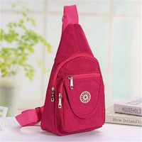 Mochilas Men Single Strap Canvas Backpack Male One Shoulder Triangle Backpack Cross Body Chest Bag Outdoors