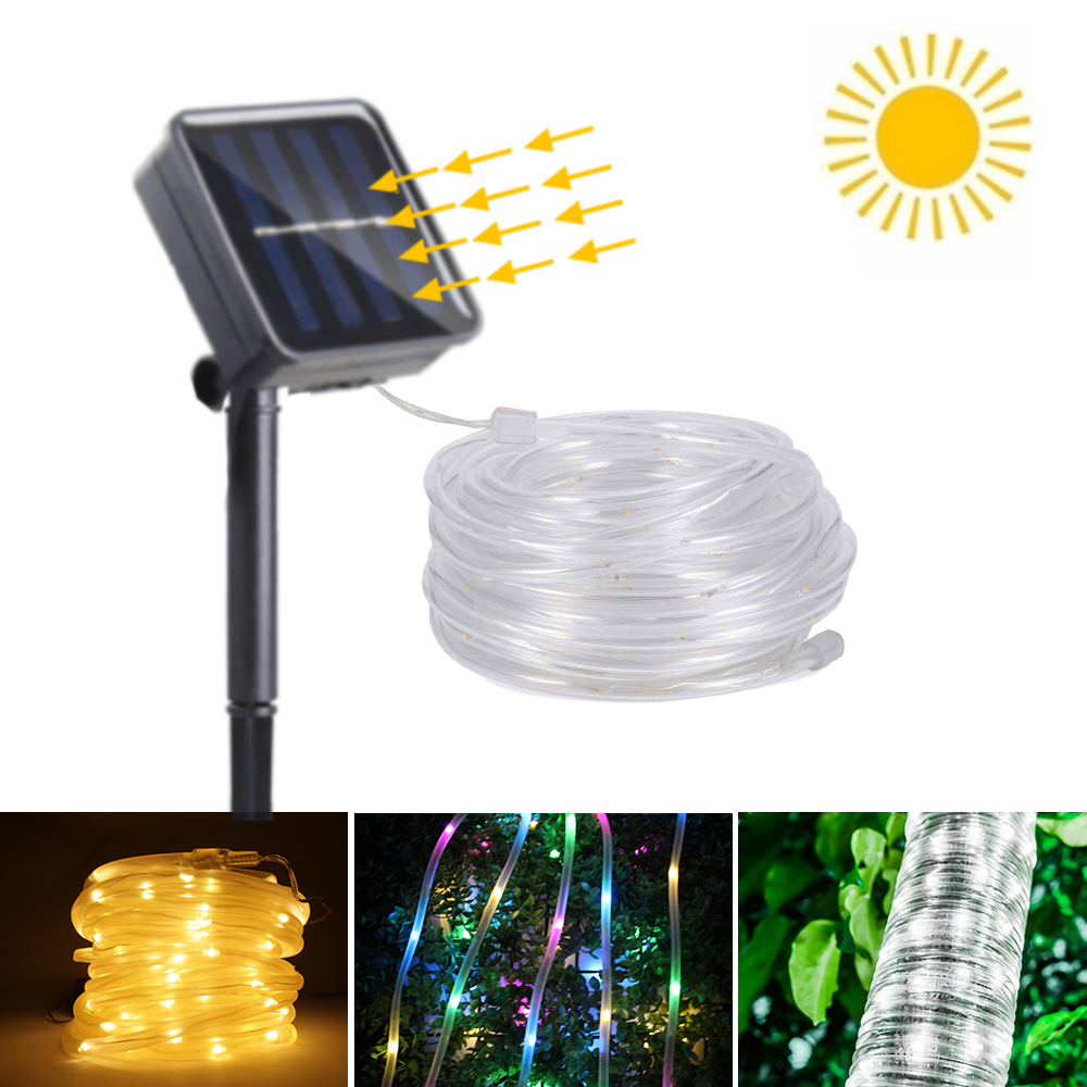 Solar Rope LED String Light to Outdoor 100 Led Solar Powered Lamp Garden Street Fairy Lights Waterproof for Christmas DecorationSolar Rope LED String Light to Outdoor 100 Led Solar Powered Lamp Garden Street Fairy Lights Waterproof for Christmas Decoration