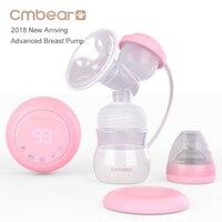 חדש 2018 Cmbear מתקדם BPA ללא משאבת החלב חשמלית שד משאבות התאמת מצב מרובה USB בייבי האכלת יניקה רבת עוצמה