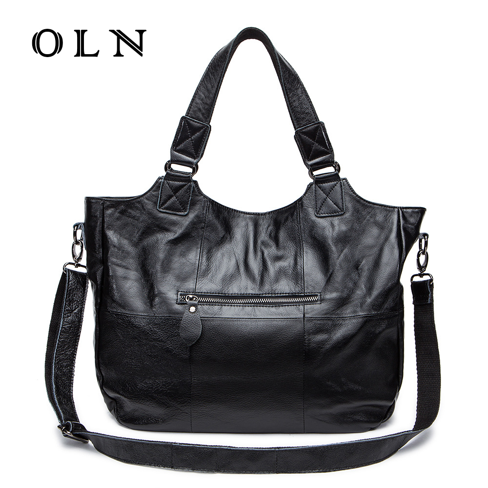 OLN Brand luxury genuine leather bags for women handbag green female hobos Shoulder bag totes ladies bolsas Cowhide handbags