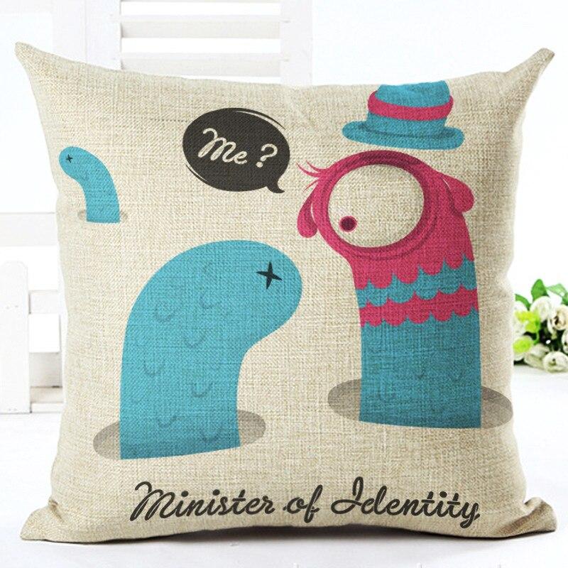New Cartoon Pillowcase Cushion Cover Car Sofa Pillow Case Square Throw Pillowcase For Sofa Home Decor F