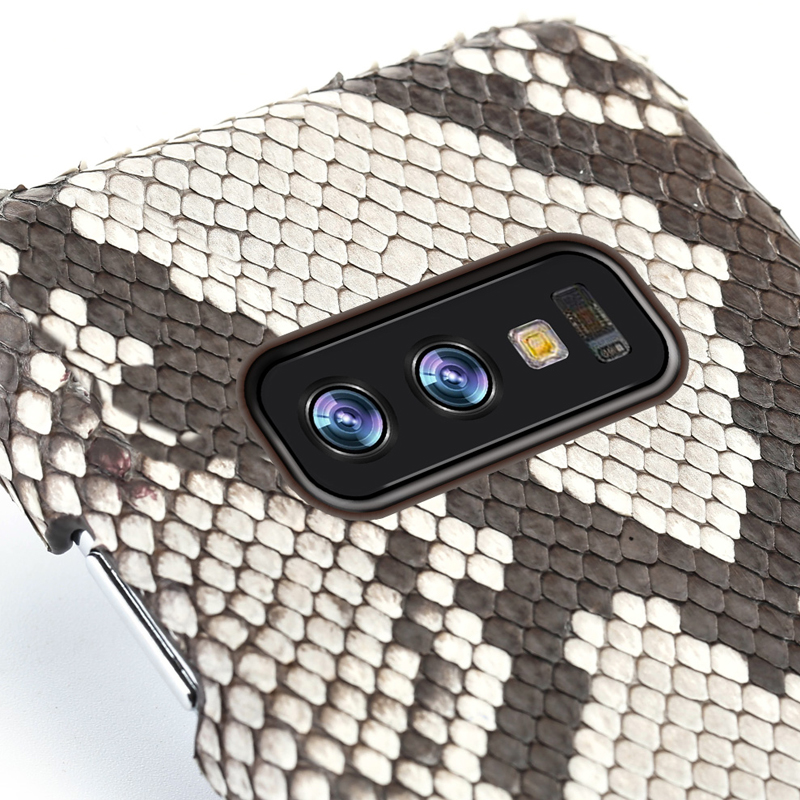 Genuine Python Leather phone case For Samsung galaxy s10 S10 Plus S9 s7 s8 Plus Snakeskins cover for a50 A70 a8 a7 2018 Note 10