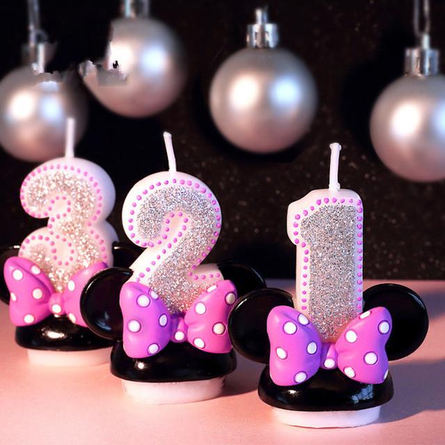 Pink Birthday Figure Candle