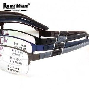 Image 5 - Brillen Hohe Elastizität Gläser Rahmen Rechteck Design Optische Gläser Myopie Progressive Harz Brille