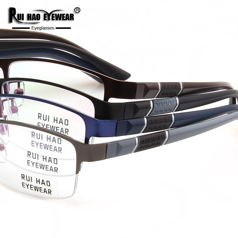 Image 5 - Prescription Eyeglasses Men Glasses Frame Rectangle Design Optical Glasses Myopia Progressive Resin Lenses Spectacles 961-in Men's Prescription Glasses from Apparel Accessories