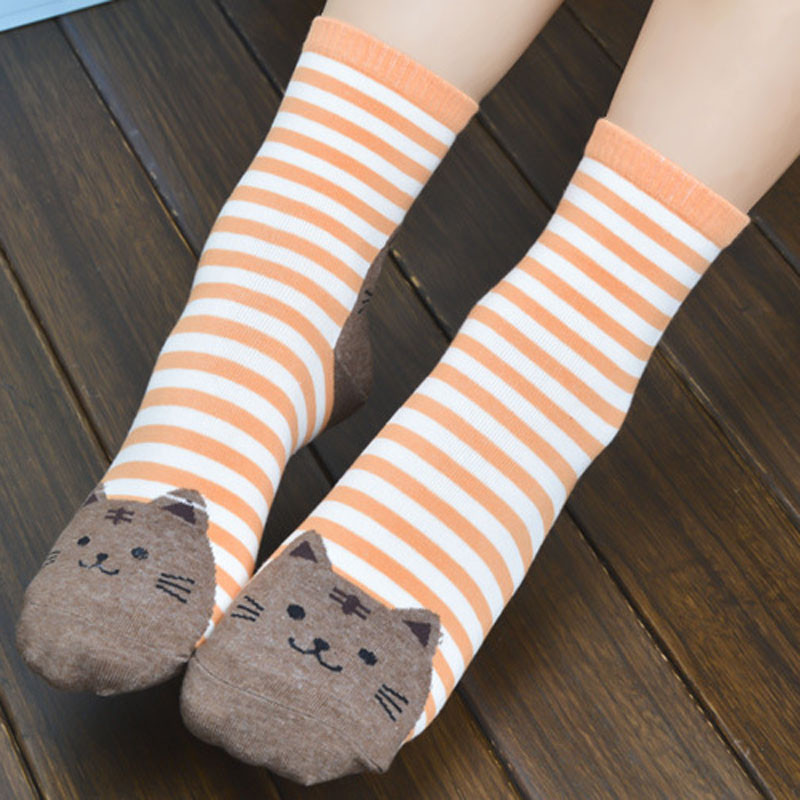 Cute Socks With Cartoon Cat For Cat Lovers Cute Socks With Cartoon Cat For Cat Lovers HTB1ouzSQVXXXXbeapXXq6xXFXXXw