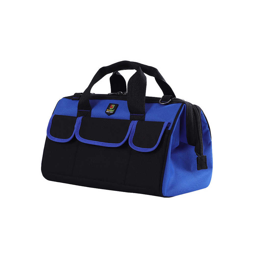 Многофункциональная сумка для инструментов, большой объем, оксфордская ткань, набор инструментов для сантехника и электрика, переносная сумка двойного назначения с одним плечом