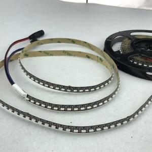 Image 5 - 3m m/rulo 144 LEDs/m DC5V SK6812 4020 yan yayan adresli LED esnek şerit, su geçirmez olmayan; IP33; siyah pcb