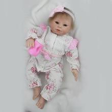 Silicone Baby Dolls Para Meninas Bebe Reborn Vinil Silicone Renascer Bebê Lifelike Bebês Brinquedos YDK-86R2 Presente de Aniversário para Crianças