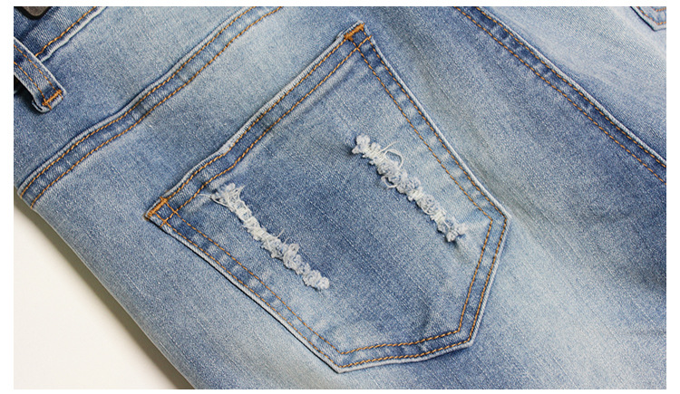 2017 Europe and the United States new women stretch loose jeans women trousers color flowers 3D stereo embroidery holes jeans (17)
