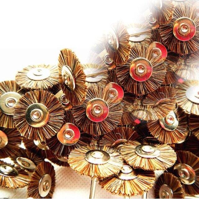 10 PCS Dental Lab Beauty Horse Hair Brush Polishers Polishing Wheel for Rotary