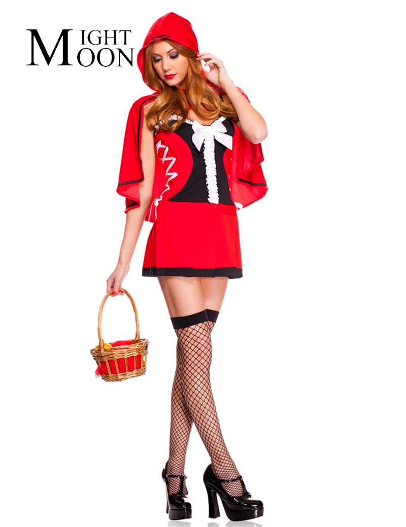 Moonight ladies little red riding hood hood fancy dress for Tap tap fish halloween event