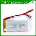 7.4V 1800mAh Lipo Battery For  WLtoys L959 L969 L979 L202 L212 Remote control cars Huanqi  955 RC boats Li-po 2S 7.4V JST 903472