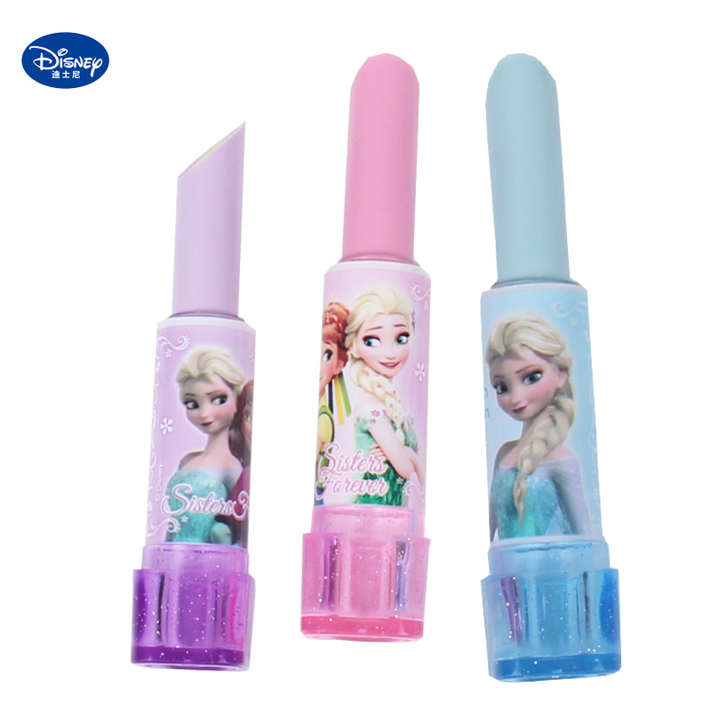 1 Pcs Frozen Cute Lipstick Pencil Eraser Disney Student School Supplies Kawaii Gift For Children