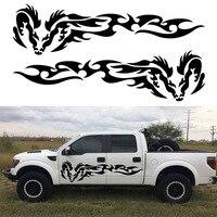 2pcs Tribal Dragon Wing Vinyl Graphic Kits Stickers Decal Ram Car Truck Boat Door Decor