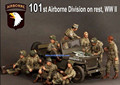 1/35 ª GUERRA MUNDIAL EE.UU. 101a División Aerotransportada 9 soldado Resina Modelo Kit figura Envío Libre