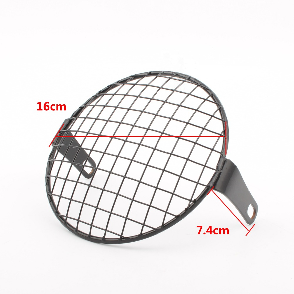 Universal Motorcycle Headlight Mesh Grill Mask Headlamp Protector Guard Cover For Motorcycles/Bikes/Cruisers/Choppers/Bobber/Caf