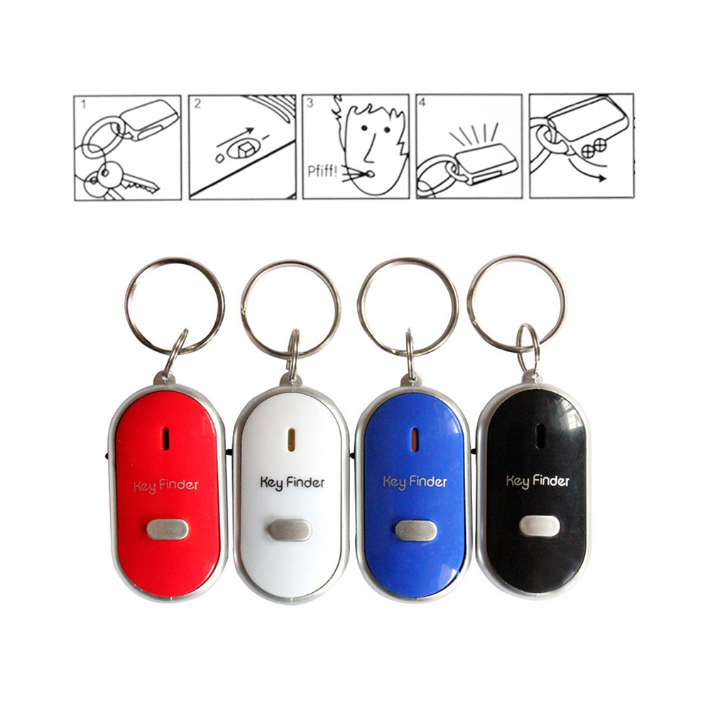 Whistle Alarm Flashing Remote Mini Child 4PCS Locators Wallet Reminder Key-Bag Anti-Lost
