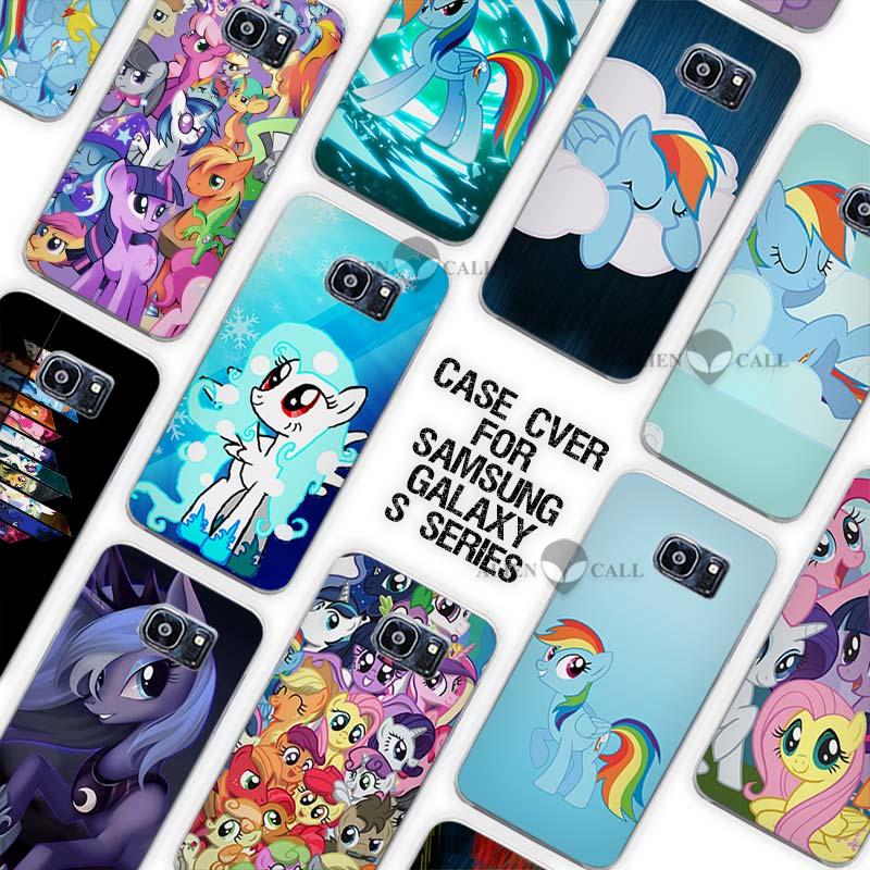 Продажи «Мой Маленький Пони» Конструкции Роскошные Прозрачный чехол Coque В виде ракушки для Samsung Galaxy S3 S4 S5 Mini S6 S7 Edge Plus ...