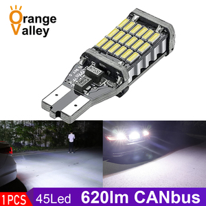 1PCS Superior LED T15 W16W 45 SMD 4014 Car Auto Canbus Reversing Lamps Stop Light Back up Lights Reverse Bulb(China)