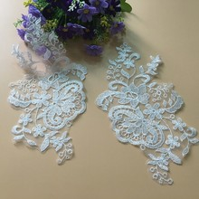 10Pieces Beautiful Flower Venise Lace Sewing Applique Collar Trim DIY Craft Embroidered Mesh Fabric
