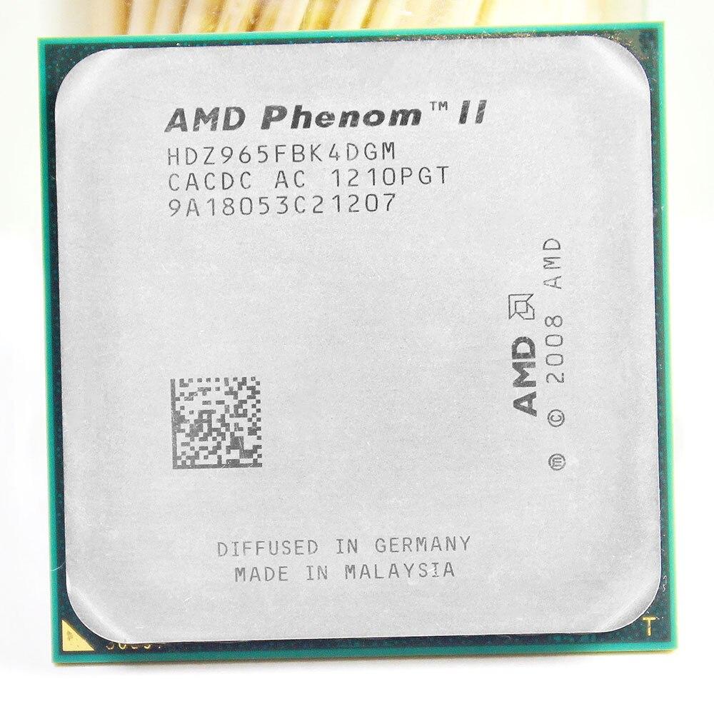 Frete grátis AMD Phenom II AM2 + AM3 X4 965 3.4GHz Soquete 938 Processador Quad-Core 2M l2/6 M L3 CPU de Desktop