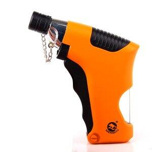 Image 3 - Torcia Turbo Più Leggero Pistola A Spruzzo Jet Butano Gas Più Leggero Sigaretta 1300 C Fuoco Antivento Gadget Più Leggeri Per Luomo