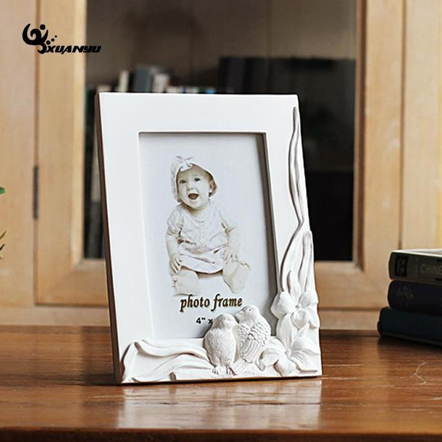 6inch Amphibious Bird Flower Resin Photo Frame Rectangle Frames Home ...