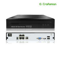 4ch POE NVR H.265 H.265+ 5MP 3MP 1080P Up to 16ch NVR Network Video Recorder 1 HDD IP Camera Onvif 2.6 P2P System G.Ccraftsman