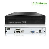 4ch POE NVR H.265 H.265 + 5MP 3MP 1080 P Fino a 16ch NVR Network Video Recorder 1 HDD IP sistema della macchina fotografica Onvif 2.6 P2P G. ccraftsman