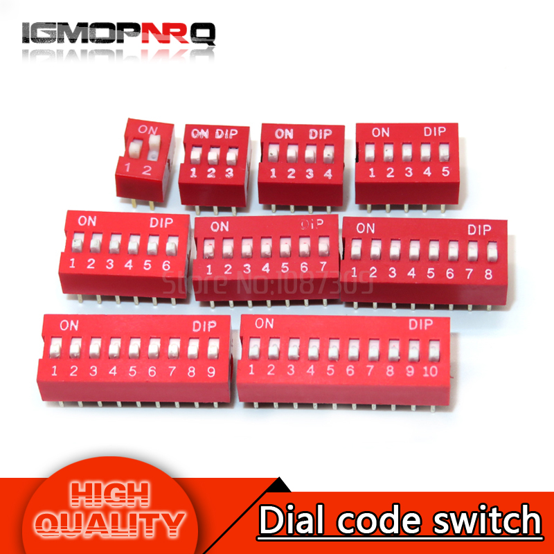 Active Components Useful 20pcs Slide Type Switch Module 2.54mm 5-bit 5 Position Way Dip Red Pitch New Last Style Integrated Circuits