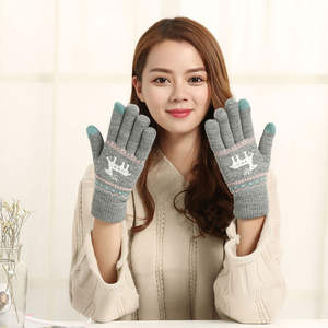 1 Pair Touch Screen Gloves for IPad Phone Women Knitted Mittens Winter Warm Christmas