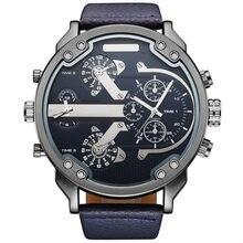 24716d1b046 2018 New Arrival Homens Marca Top OULM 3548 relógio de Luxo Japão movt  quartzo 2 Fuso Horário Relógios Casual 5.5 cm Big Relógio.