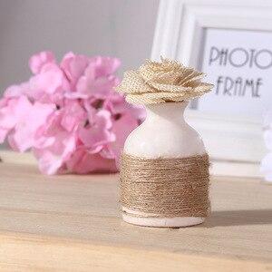Image 4 - Cuerda de cáñamo Natural para colgar etiquetas, cuerda tejida para decoración del hogar, cordel de yute, cordón de jardinería, manualidad para regalo, 100m por rollo