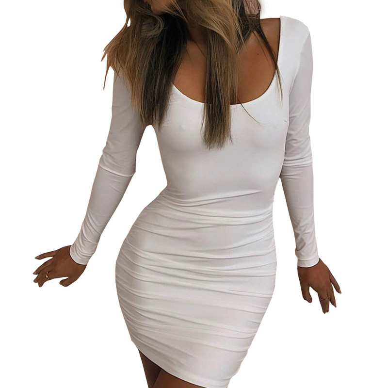 Estate 2018 new white lady pure color abito corsetto