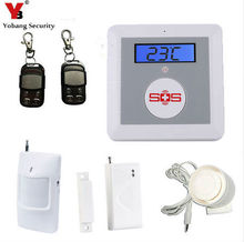 YobangSecurity Residence Safety Wi-fi Burglar Alarm GSM SMS Senior Telecare SOS Wi-fi PIR Door Smoke Detector For Elder Care