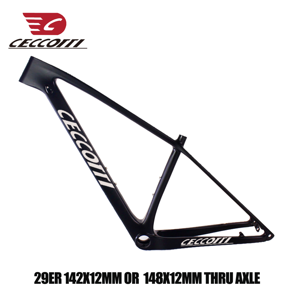 Good Quality MTB Frame 29er Carbon Bike Frame T1000 UD 27.2mm Suitable Seatpost BSA BB30 PF30 Bottom Bracket Carbon Mtb Frame