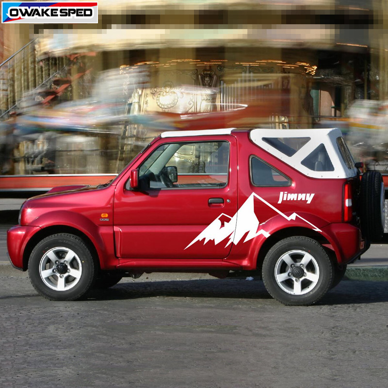 Mountain Graphics Vinyl Deal For Suzuki Jimny OFF ROAD Styling Car Door Side Decor Sticker Auto Body Exterior Accessories