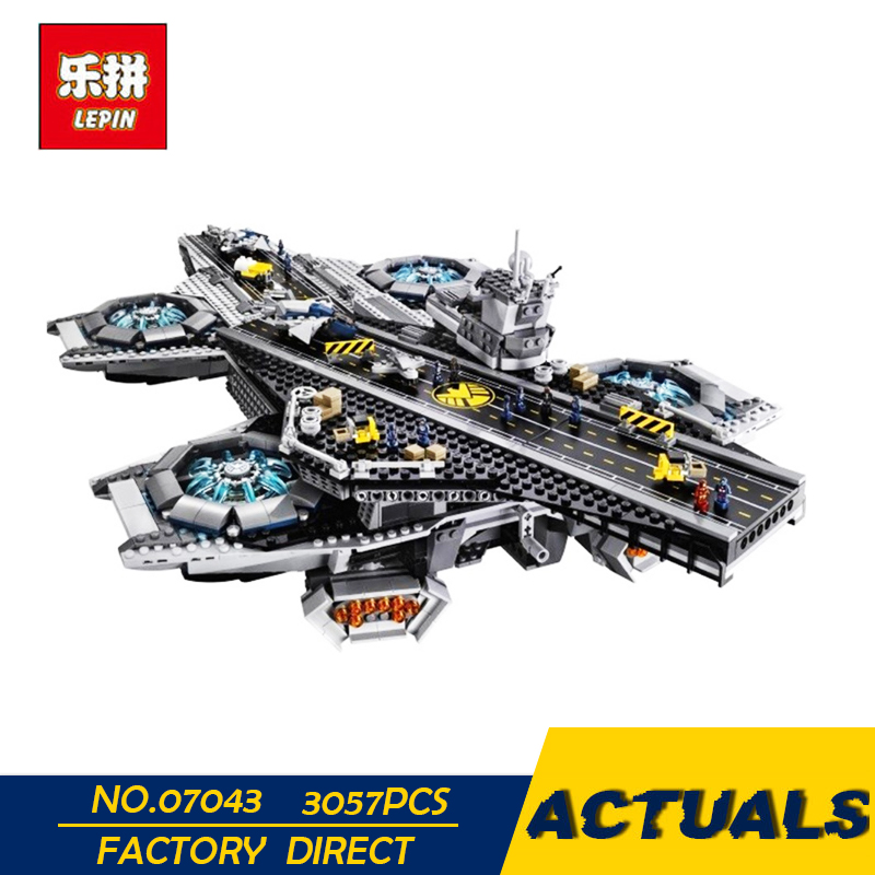 LEPIN 07043 3057Pcs Super Heroes The Shield Helicarrier Model Building Blocks Bricks Toys Kits for Children Compatible 76042 artificial leather rope round collarbone necklace
