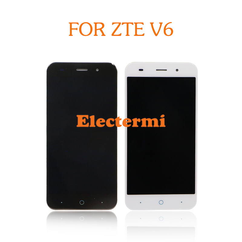 For <font><b>ZTE</b></font> V8 BV0800 Blade X7 D6 V6 Z7 <font><b>T660</b></font> T663 LCD Original Full LCD Display Touch Screen Digitizer Assembly+ Repairs Tools image